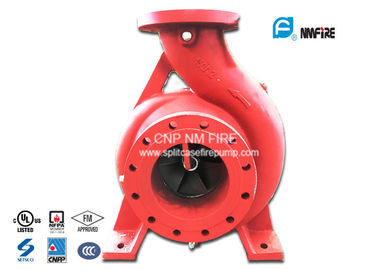 Single Impeller Centrifugal UL FM Approved Fire Pumps Ductile Cast Iron Materials